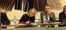 Les écologistes rassemblé-es autour du projet de loi ESS de Benoit Hamon.
